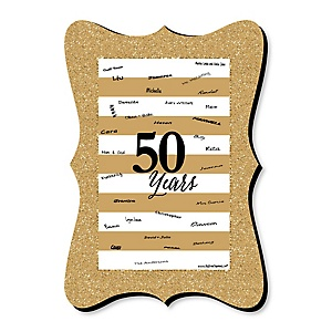 We Still Do - 50th Wedding Anniversary - Unique Alternative Guest Book - 50th Wedding Anniversary Signature Mat