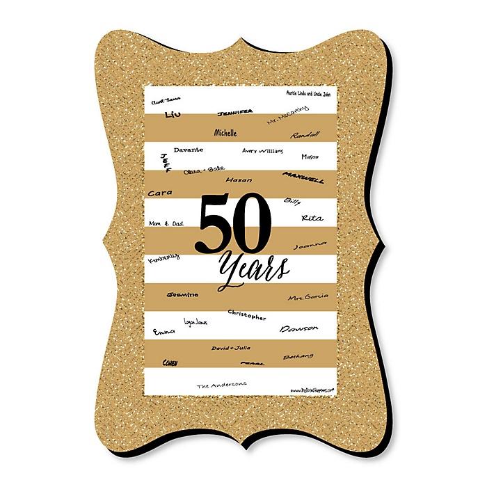 We Still Do - 50th Wedding Anniversary - Unique Alternative Guest Book - 50th Wedding Anniversary Signature Mat