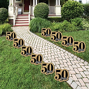 We Still Do - 50th Wedding Anniversary Lawn Decorations - Outdoor Anniversary Party Yard Decorations - 10 Piece