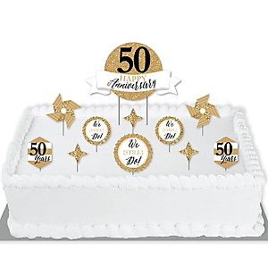 We Still Do - 50th Wedding Anniversary - Anniversary Party Cake Decorating Kit - Happy Anniversary Cake Topper Set - 11 Pieces