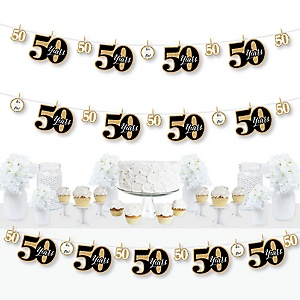 We Still Do - 50th Wedding Anniversary - Anniversary Party DIY Decorations - Clothespin Garland Banner - 44 Pieces