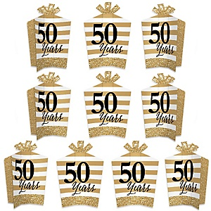 We Still Do - 50th Wedding Anniversary - Table Decorations - Anniversary Party Fold and Flare Centerpieces - 10 Count