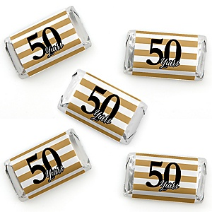 We Still Do - 50th Wedding Anniversary - Mini Candy Bar Wrapper Stickers - Anniversary Party Small Favors - 40 Count