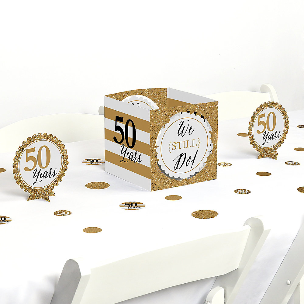 We Still Do 50th Wedding Anniversary Anniversary Party Centerpiece And Table Decoration Kit