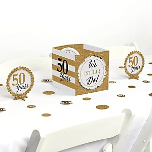 We Still Do - 50th Wedding Anniversary - Anniversary Party Centerpiece and Table Decoration Kit