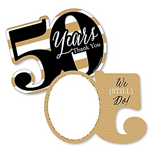 We Still Do - 50th Wedding Anniversary - Shaped Thank You Cards - Anniversary Party Thank You Note Cards with Envelopes - Set of 12