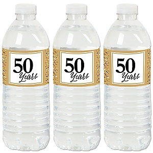 We Still Do - 50th Wedding Anniversary - Anniversary Water Bottle Sticker Labels - Set of 20