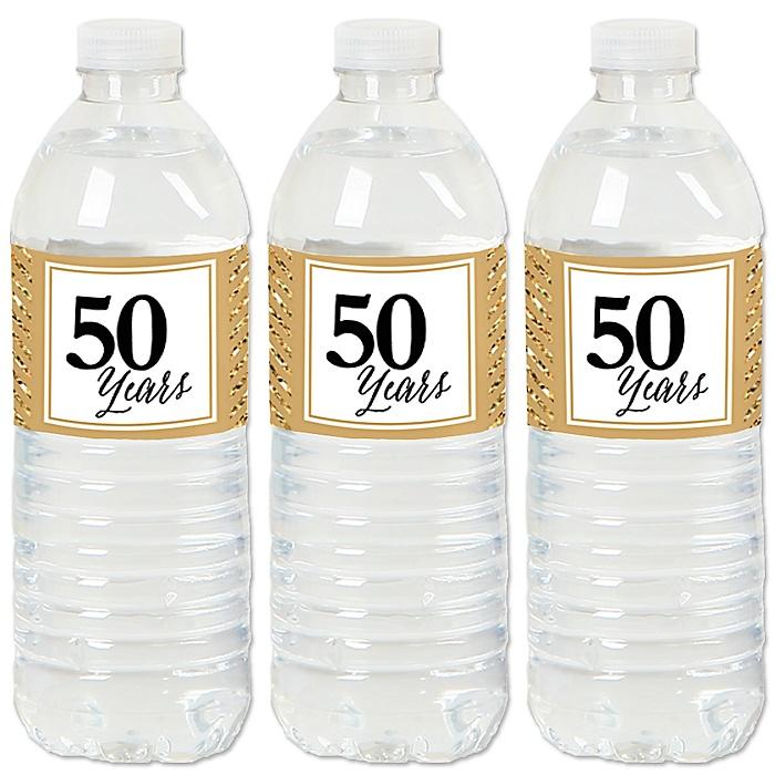 We Still Do - 50th Wedding Anniversary - Anniversary Water Bottle Sticker Labels - Set of 20