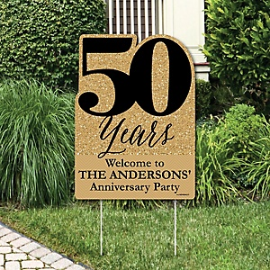 We Still Do - 50th Wedding Anniversary - Party Decorations - Anniversary Party Personalized Welcome Yard Sign