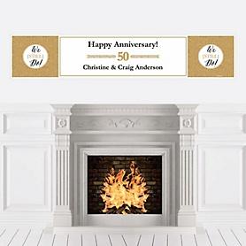 We Still Do - 50th Wedding Anniversary - Personalized Wedding Anniversary Banner