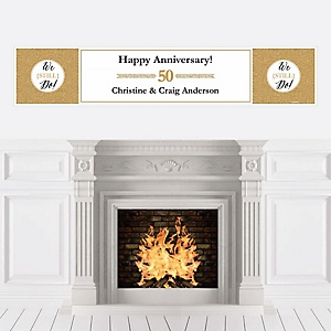 We Still Do - 50th Wedding Anniversary - Personalized Wedding Anniversary Banner