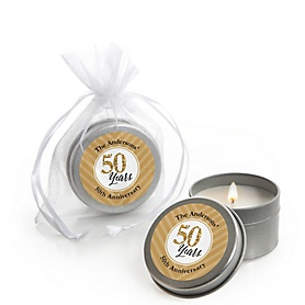 We Still Do - 50th Wedding Anniversary - Personalized Wedding Anniversary Candle Tin Favors - Set of 12