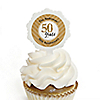 We Still Do - 50th Wedding Anniversary - Personalized Wedding Anniversary Cupcake Pick and Sticker Kit - 12 ct