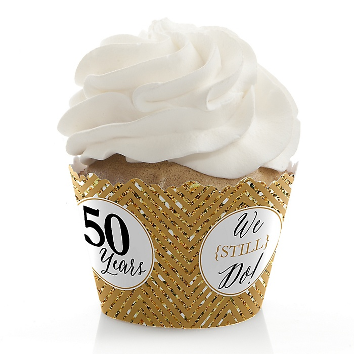 We Still Do - 50th Wedding Anniversary - Wedding Anniversary Decorations - Party Cupcake Wrappers - Set of 12