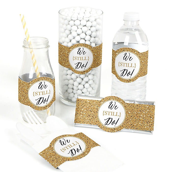 We Still Do - 50th Wedding Anniversary - DIY Party Wrappers - 15 ct