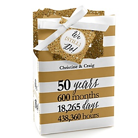 We Still Do - 50th Wedding Anniversary - Personalized Wedding Anniversary Favor Boxes - Set of 12