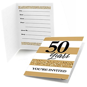 We Still Do - 50th Wedding Anniversary - Fill In Wedding Anniversary Invitations - 8 ct