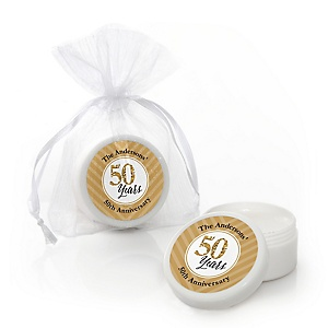 We Still Do - 50th Wedding Anniversary - Personalized Wedding Anniversary Lip Balm Favors - Set of 12