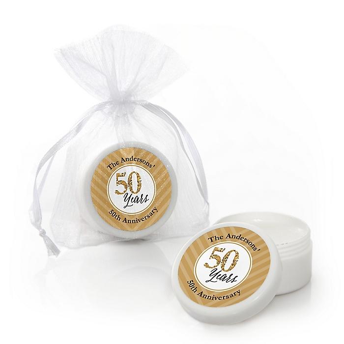 We Still Do - 50th Wedding Anniversary - Personalized Wedding Anniversary Lip Balm Favors - Set of 12