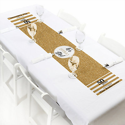 We Still Do 50th Wedding Anniversary Personalized Pee Table Runner Dotofhiness
