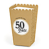 We Still Do - 50th Wedding Anniversary - Personalized Wedding Anniversary Popcorn Favor Treat Boxes