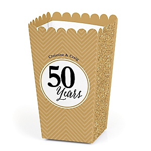 We Still Do - 50th Wedding Anniversary - Personalized Wedding Anniversary Popcorn Favor Treat Boxes - Set of 12