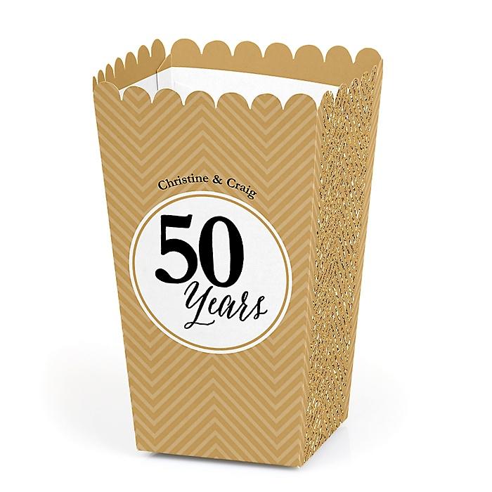 We Still Do - 50th Wedding Anniversary - Personalized Wedding Anniversary Popcorn Favor Treat Boxes - Set of 12