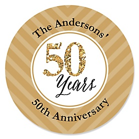 We Still Do - 50th Wedding Anniversary - Personalized Wedding Anniversary Sticker Labels - 24 ct