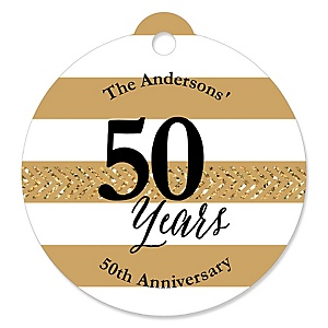 We Still Do - 50th Wedding Anniversary - Personalized Wedding Anniversary Tags - 20 ct