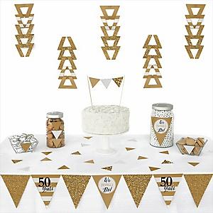 We Still Do - 50th Wedding Anniversary -  Triangle Wedding Anniversary Decoration Kit - 72 Piece