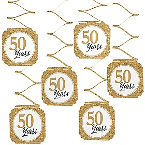 We Still Do - 50th Wedding Anniversary Hanging Decorations - 6 ct