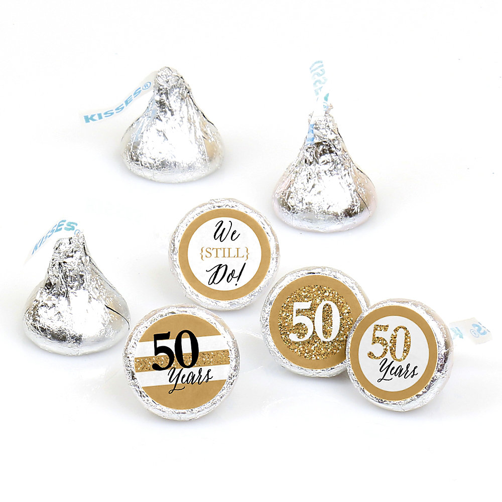 We Still Do - 50th Wedding Anniversary - Round Candy Labels ...
