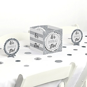 We Still Do - Wedding Anniversary - Anniversary Party Centerpiece and Table Decoration Kit