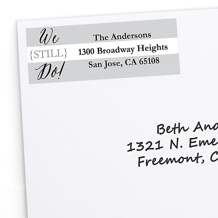 We Still Do - Wedding Anniversary - Personalized Wedding Anniversary Return Address Labels - 30 ct
