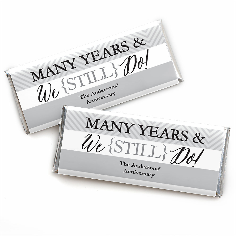We Still Do - Wedding Anniversary - Personalized Candy Bar Wrappers ...