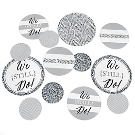 We Still Do - Wedding Anniversary - Wedding Anniversary Giant Circle Confetti - Anniversary Party Decorations - Large Confetti 27 Count