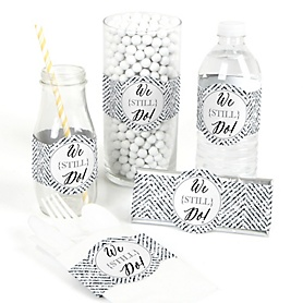 We Still Do - Wedding Anniversary - DIY Party Wrappers - 15 ct