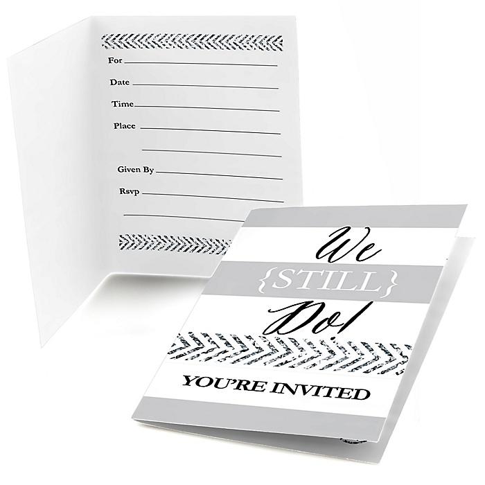 We Still Do - Wedding Anniversary - Fill In Wedding Anniversary Invitations - 8 ct