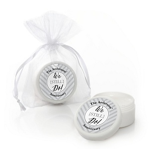 We Still Do - Wedding Anniversary - Personalized Wedding Anniversary Lip Balm Favors - Set of 12