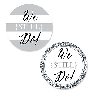 We Still Do - Wedding Anniversary - DIY Shaped Wedding Anniversary Paper Cut-Outs - 24 ct