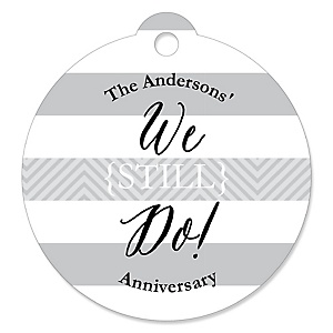 We Still Do - Wedding Anniversary - Personalized Wedding Anniversary Tags - 20 ct