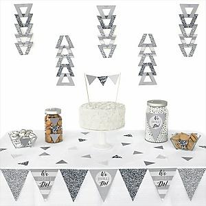 We Still Do - Wedding Anniversary -  Triangle Wedding Anniversary Decoration Kit - 72 Piece