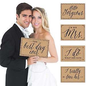 Wedding - Announcement Photo Prop Kit - 10 Count