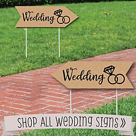 Wedding Signs - Wedding Sign Arrows - Double Sided Directional Yard Signs