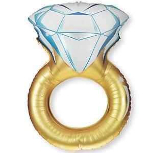 Engagement Ring - Bridal Shower Mylar Balloon