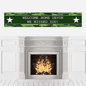 Welcome Home Hero - Personalized Military Army Homecoming Banner