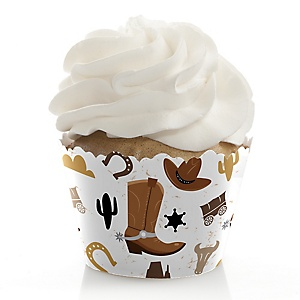 Western Hoedown - Wild West Cowboy Party Decorations - Party Cupcake Wrappers - Set of 12