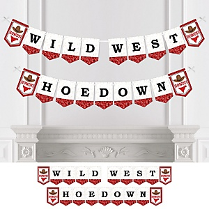 Western Hoedown - Wild West Cowboy Party Bunting Banner - Party Decorations - It's a Western Hoedown