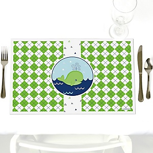 Tale Of A Whale - Party Table Decorations - Party Placemats - Set of 12