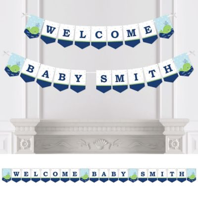 Tale Of A Whale   Personalized Baby Shower Bunting Banner U0026 Decorations